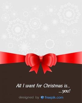 Tarjeta de felicitación de navidad con una dedicación