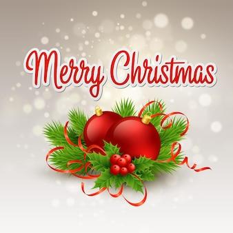 Tarjeta de felicitación de navidad. ilustración vectorial eps 10