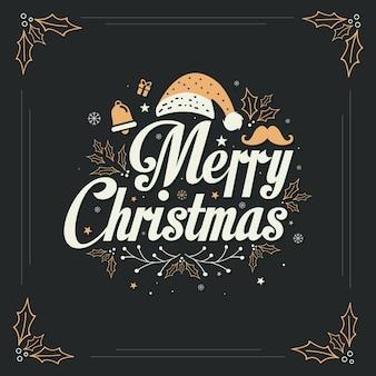 Tarjeta de felicitación de navidad de lujo de oro, feliz navidad, diseño de fondo de navidad.