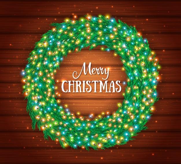 Tarjeta de felicitación de navidad con marco