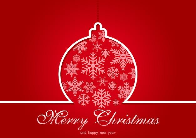 Tarjeta de felicitación de navidad roja