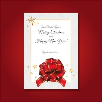 Tarjeta de felicitación de navidad simple, formal y elegante escrita a mano.