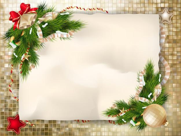 Tarjeta de felicitación de navidad.