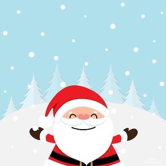 Tarjeta de felicitación navideña con árbol de navidad