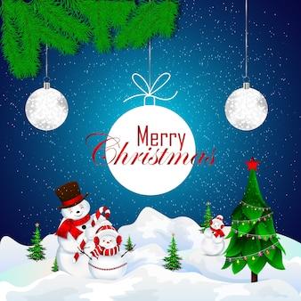 Tarjeta de felicitación navideña con diseño de texto