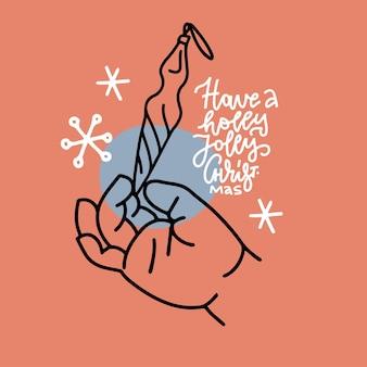 Tarjeta de felicitación navideña con letras cristianas ...
