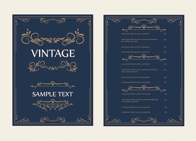 Tarjeta de felicitación del ornamento del vintage