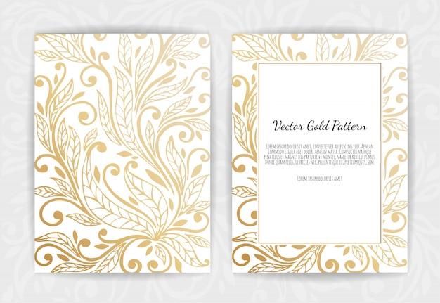 Tarjeta de felicitación de oro sobre negro