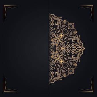 Tarjeta de felicitación de oro vintage fondo negro