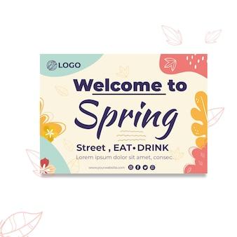 Tarjeta de felicitación de primavera
