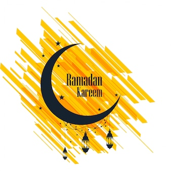 Tarjeta de felicitación de ramadan kareem fondo hermoso