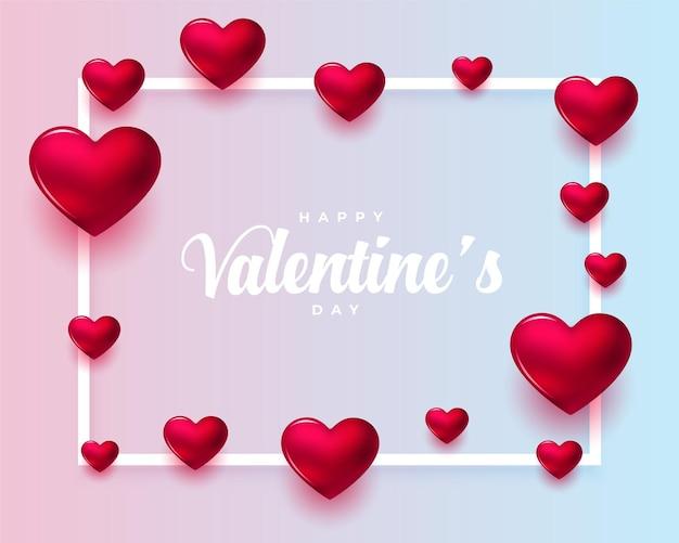 Tarjeta de felicitación realista del día de san valentín