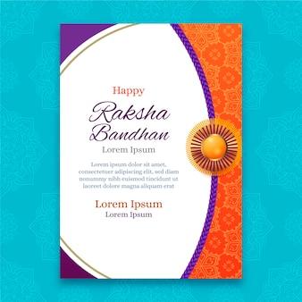 Tarjeta de felicitación realista de raksha bandhan