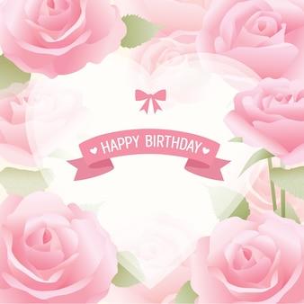 Tarjeta de felicitación rosas