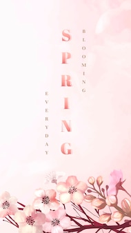 Tarjeta de felicitación de sakura