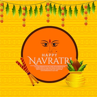 Tarjeta de felicitación de shubh navaratri de maa durga