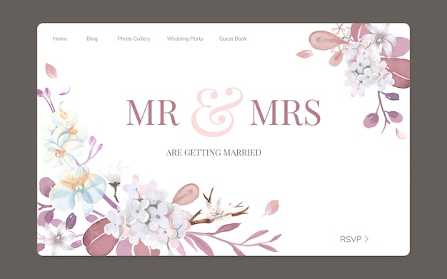 Tarjeta de felicitación con tema floral.