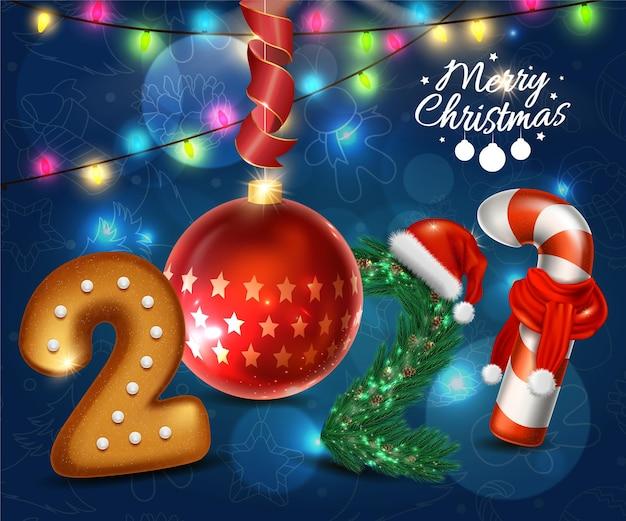 Tarjeta de felicitación de vacaciones de navidad feliz
