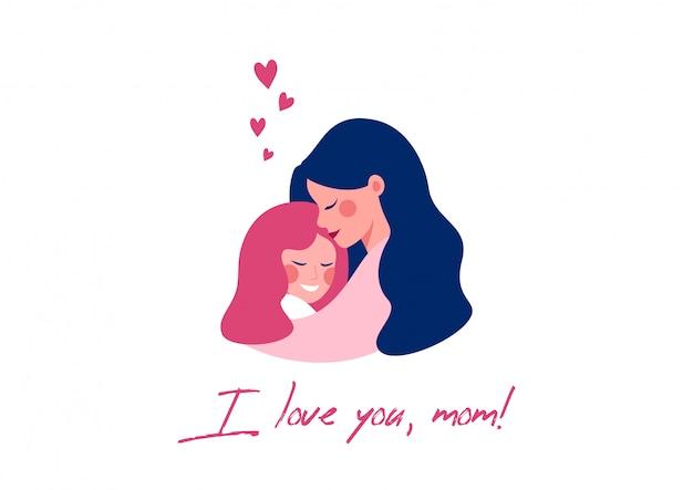 Tarjeta de felicitación del vector para el día de madre feliz