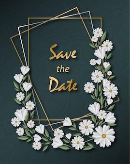 Tarjeta de felicitaciones floral de las estaciones