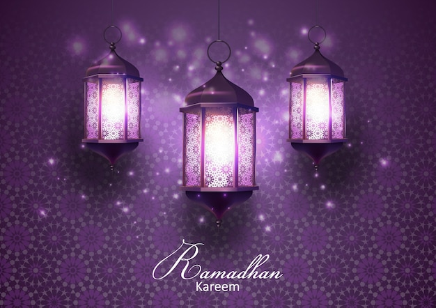 Tarjeta de felicitaciones de ramadan kareem