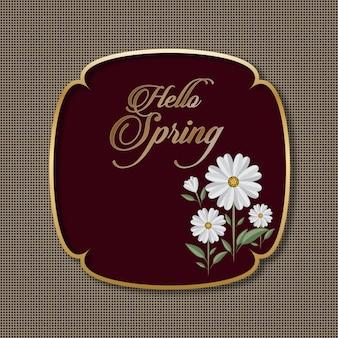 Tarjeta de felicitaciones de temporada floral