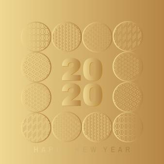 Tarjeta feliz año nuevo 2020