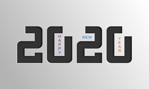Tarjeta de feliz año nuevo 2020.