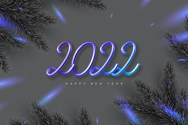 Tarjeta de feliz año nuevo 2022