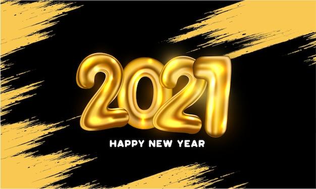 Tarjeta de feliz año nuevo con abstract splash