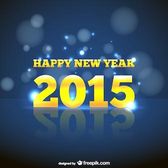 Tarjeta de feliz año nuevo con letras amarillas