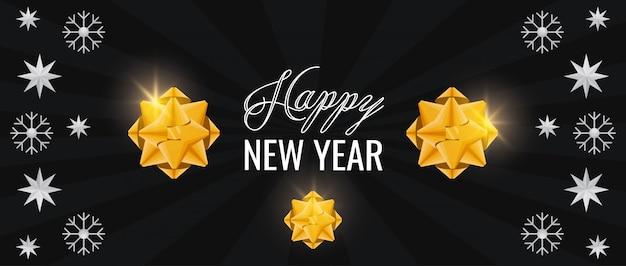 Tarjeta de feliz año nuevo con patrón de estrellas
