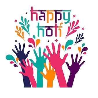 Tarjeta de feliz celebración de holi