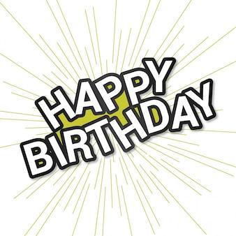 Tarjeta de feliz cumpleaños con diseño elegent y fondo claro
