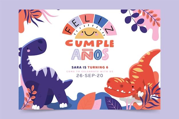 Tarjeta de feliz cumpleaños para niños