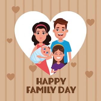 Tarjeta feliz día de la familia