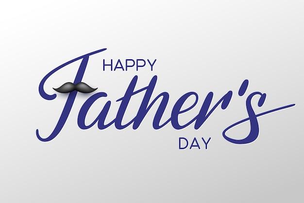 Tarjeta del feliz día del padre con caligrafía escrita a mano