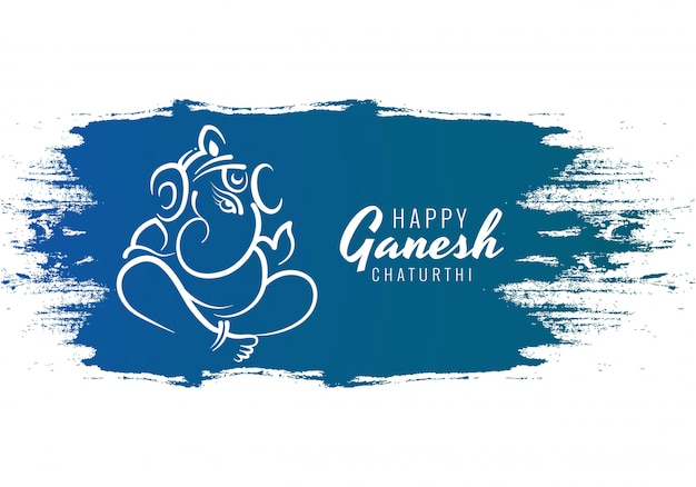 Tarjeta feliz del festival de ganesh chaturthi utsav