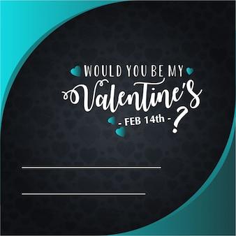 Tarjeta feliz de la invitación del día de tarjeta del día de san valentín