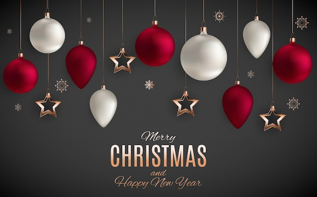 Tarjeta de feliz navidad y año nuevo