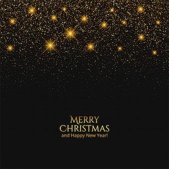 Tarjeta de feliz navidad con brillos brillantes
