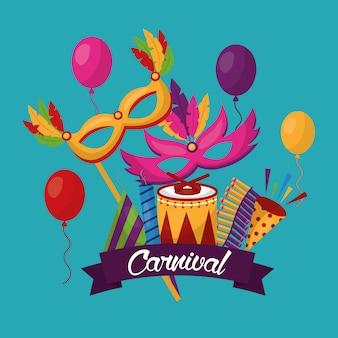 Tarjeta festiva de carnaval