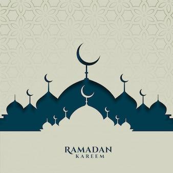 Tarjeta del festival islámico para la temporada de ramadán kareem