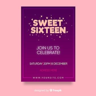 Tarjeta para fiesta de dulces 16