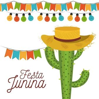 Tarjeta de fiesta junina