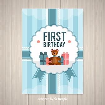 Tarjeta de fiesta de primer cumpleaños