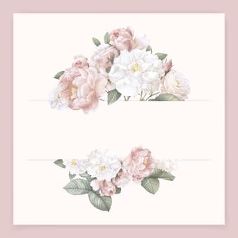 Tarjeta de flor femenina
