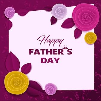 Tarjeta floral de papel cortado día del padre