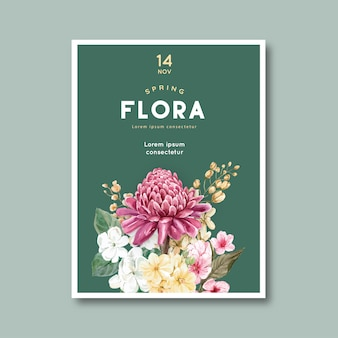 Tarjeta floral