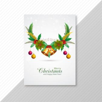 Tarjeta de folleto de celebración de feliz navidad